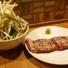 焼肉 がみ屋 - 料理写真:ガーリック牛ハラミステーキ!ニラもやしが付いてきます◎