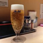 麺屋 千代松 - 生ビール(250円)