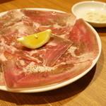 焼肉 がみ屋 - タン塩★当店ではお酢をつけてお召し上がりください!