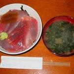 吉原大門蕎麦自然薯 - 限定五食「鉄火丼(とろろ付)」1000円