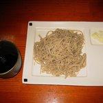 吉原大門蕎麦自然薯 - カエシが超甘口で微量の「手打そば」700円