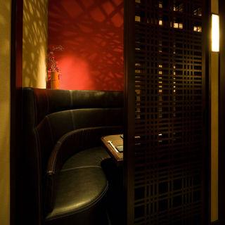 【カップルシート】デートにぴったりな2名様完全個室