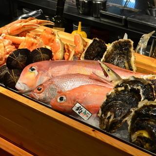 季節の海産物を豊富にご用意致しております。