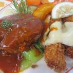 レストラン仏区里屋 - ハンバーグ&車エビフライ