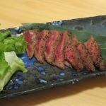 shikiya - 峠下牛、ミスジの炙りステーキ