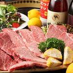 焼肉ぎゅう舎 - こだわりの牛肉A5ランクの「みかわ牛 ゴールド」を使用