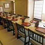 ぎんざ亭 - 個室の椅子、テーブルもご準備できます