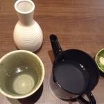 くはら - 蕎麦焼酎「刈干」と湯桶の中