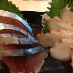 立ち呑み 寅さん - しめ鯖&タコの刺身