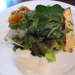 トラットリア イル バッコドーロ - ランチのサラダ