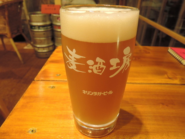 荻窪ビール工房 - 自家製ビール・ホワイト590円