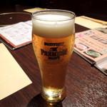 九州酒場 あじと - 2013年9月22日(日) 生ビール「プレミアムモルツ・550円」