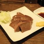 もつ焼き 酒場野田 - 2013.10 れば刺(450円)豚の肝臓