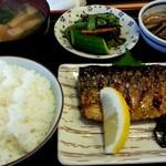 まんじ - 塩さば焼き定食!うまし 2013.10