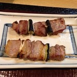 旬味 井筒 - 豚タン塩140円、平牧三元豚バラ肉塩160円