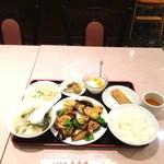 21678225 - 豚肉とジャガイモ、ナス、ピーマン炒め