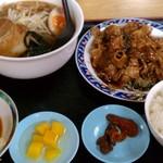 台湾料理 餃子坊 - コマ焼きランチ