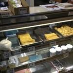 須田豆腐店 - あげ80円 生揚げ150円 がんも大90円小35円 豆乳120円 左上に揚げ出し豆腐280円もある