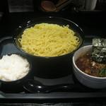 麺屋永吉 花鳥風月 - 「咖喱つけめん+半ライス」です。