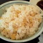 とんかつ 藤よし - 栗の炊き込みご飯アップ