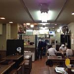 遠州屋 - 店内とおじさん・厨房右奥が座敷です。これは退店時の撮影