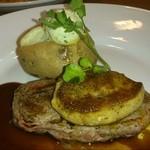 ココス - 2013/09 フォアグラと牛フィレ肉のステーキ(バルサミコソース) 1,680円