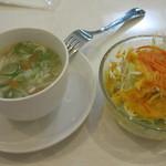 マナカマナ - もやしスープは中華風・・