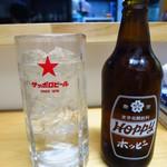 のぶちゃん - ホッピー380円 割るスペースがない!![驚)