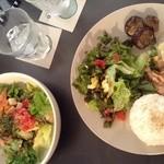 21690983 - ランチ木こりプレートとカジキのピリ辛タルタル丼