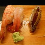 新中野まとい寿司 - シャコ、甘えび、えび