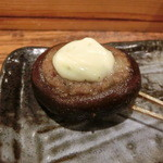 鉄板神社 - シイタケ肉詰