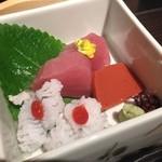 京都つゆしゃぶCHIRIRI - コースのお刺身
