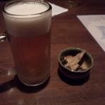 海鮮厨房 いおり膳 - ビールとお通し