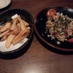 海鮮厨房 いおり膳 - ポテトフライと油淋鶏