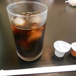 旭寿司 - 食後のアイスコーヒー