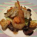 そぷらのシチュー - 鯛と海老(生えび、ゆでえび)の前菜