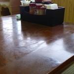 本宮の湯 うまの背 - テーブル上