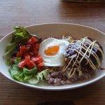 Cafe tenba - 【ロコモコ】十穀米を使ったロコモコです!おいしかった!