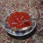 ならまち文庫 古書喫茶 ちちろ - ランチのデザートは有機トマトのゼリー