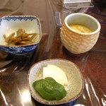 2170629 - 小鉢、漬物、茶碗蒸し