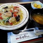 お不動さん - 塩麹焼そば680円