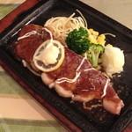 エスポワール - 料理写真:ランチのサーロインステーキ(1,000円)ライス・スープ・サラダ・ドリンク付き