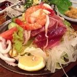 漁竿 - シーフードサラダ 480円