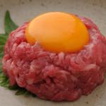 韓々 - 料理写真:待ちに待った復活メニュー『牛肉のユッケ』