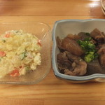 魚・旬菜小料理ととや - ポテサラと牛スジ煮込みです。