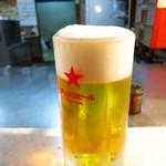大倉山もつ肉店 - サッポロ生ビール550円