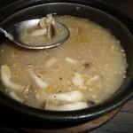 テキサス - これがしめじとにんにくのスープ!元気になれるぜっ!