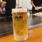 お好み焼 みつ - キンキンに冷えた生ビール( ^ ^ )/□ 生き返る〜 (死んどったんかいっ^^