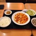 福招門 - 料理写真:日替わりランチ600円、麻婆豆腐定食