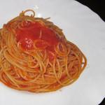 バー ココン - コース料理「自家製トマトソースのシンプルパスタ」